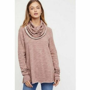 Free People Beach Cocoon Cowl Neck Pink Sweater✨
